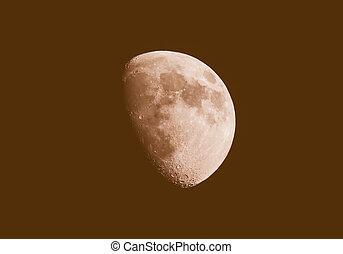 Retro looking Gibbous moon - Vintage looking Gibbous moon...