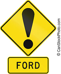 Road sign assembly in New Zealand - Ford