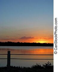 Sunset Ding Darling Wildlife Refuge Sanibel Florida