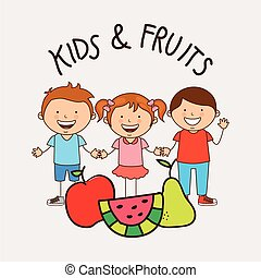 happy children design, vector illustration eps10 graphic