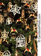 Wood christmas decorations - Cropped shot of wooden...
