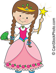 Kiddle Princess - A lovely young princess is holding a magic...