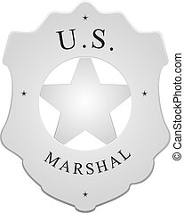 US Marshal - Badge for police units in the US - US Marshal.