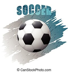 Grunge design with soccer ball