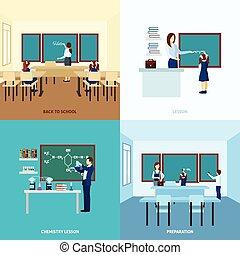 School Education Concept Set - School education concept set...