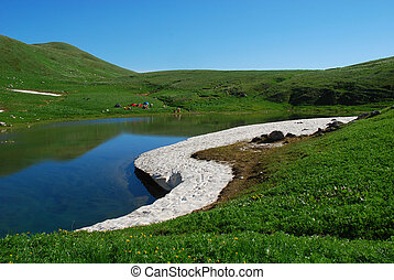 This is beautiful mountain landscape northern caucasia....