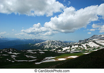 This is beautiful mountain landscape northern caucasia Photo...