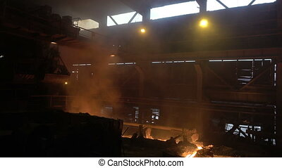 blast-furnace plant in the process of production 2
