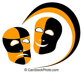 Masks. - Two masks are expressed by distressing and...