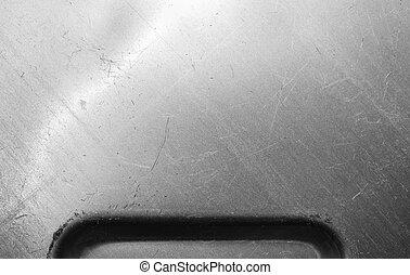 Brushed metal surface