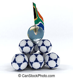 Abstract picture about soccer