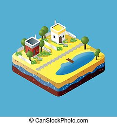 Modern illustration of an Isometric