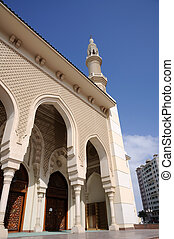 Detail of a mosque in Sharjah City, United Arab Emirates