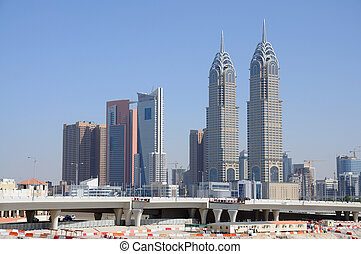 Skyscrapers in Dubai City, United Arab Emirates