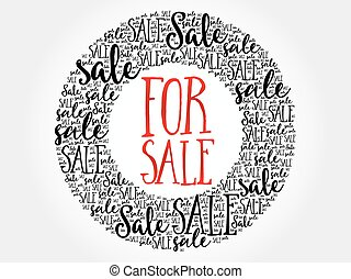FOR SALE circle word cloud