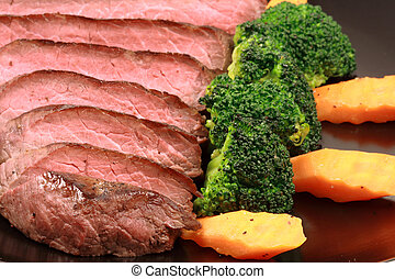 grilled tender beef - organic beef grilled to perfection to...