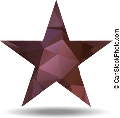 Abstract triangular star - Abstract lovely colored star with...
