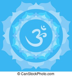 Om symbol - Om or Aum symbol in mandala made from petals