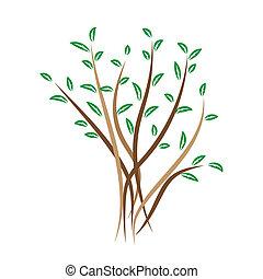 árbol, vector, Ilustración,