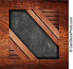 old leather with wooden frame