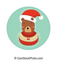 Bear in Christmas Sweater
