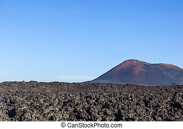 volcano in timanfaya national park in Lanzarote, Spain