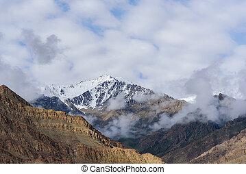 "shot of Mountain ""Doonagiri"" in Garhwal Himalaya In India"
