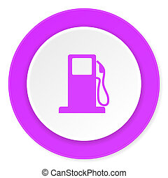 petrol violet pink circle 3d modern flat design icon on...