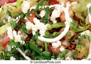 mexican tostadas close up - Delicious mexican tostadas...