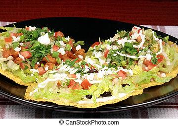mexican crunchy tostadas - Delicious mexican tostadas...