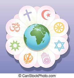 Religions United World Flower Peace - World religions united...