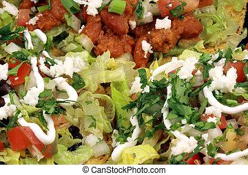 mexican crunchy tostadas close up - Delicious mexican...