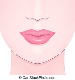 female full lips - the lower part of the girl face, female...