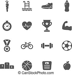 Sport Icons - Fitness and sport icons
