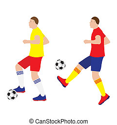 Football player with the ball Soccer Sportsman Sport