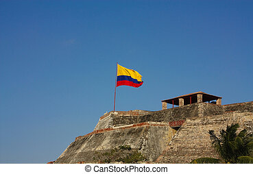 San Felipe de Barajas castle. Cartagena de Indias, Colombia...