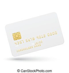 Bank card on a white background.