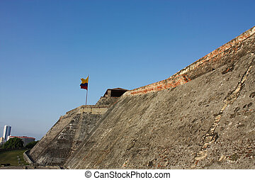 Cartagena,  de, castelo,  felipe,  indias,  Colômbia,  barajas,  San