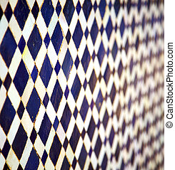 abstract morocco in africa tile the colorated pavement...