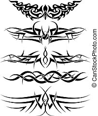 tattoos set - Patterns of tribal tattoo for design use