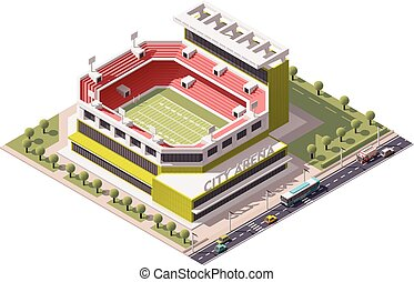 Vector isometric stadium - Isometric icon representing...