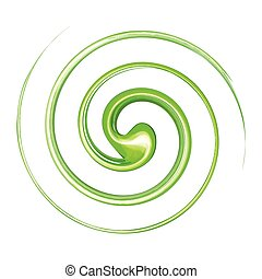Vortex background green - Vortex background vector.Swirl...