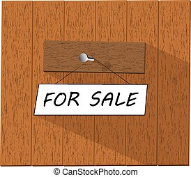 Vector sign saying For sale