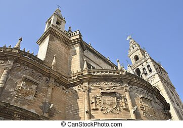 Cathedral and Giralda - Part of Cathedral and Giralda in...