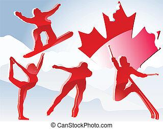 Canada Vancouver Winter Games 2010. Editable Vector...