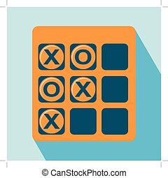 Tic Tac Toe Icon Game Icon EPS 10 vector illustration for...