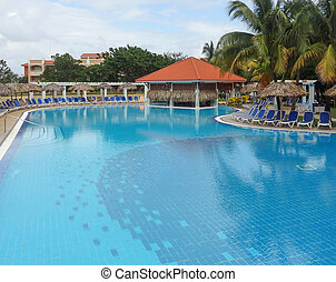holiday resort in Cuba - a holiday resort with big blue pool...