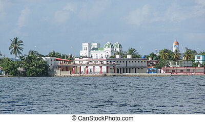 waterside scenery around Cienfuegos in Cuba, a island in the...
