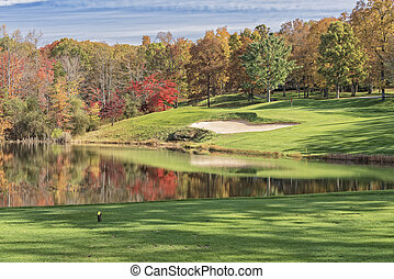 Autumn on Druid Hills - Hole 4 At Druid Hills Golf Course In...