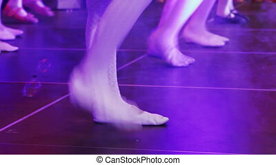 Dancing ballet girl - On stage legs dancing ballet girl